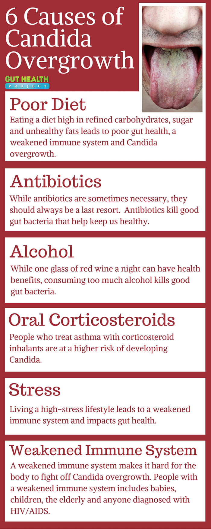Candida Causes Infographic